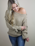 Just What You Are Looking For Sweater - Beige