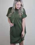 The Leading Role Dress - Olive