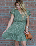 For This Season Dress - Olive