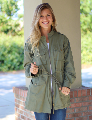 Play It Cool Jacket - Olive