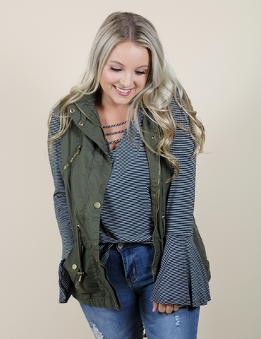 Closer To You Vest - Olive