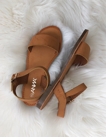 Making My Mark Sandals - Dark Beige