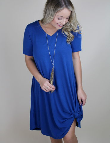 Always On The Move Dress - Sapphire
