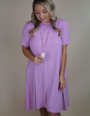 In No Time Dress - Mauve