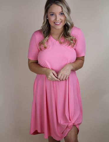 Always On The Move Dress - Rose Pink