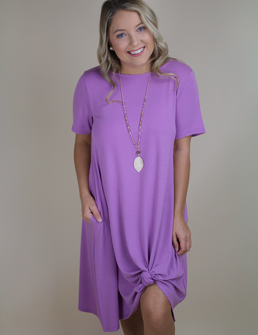 In No Time Dress - Dark Mauve