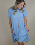 In No Time Dress - Ash Blue
