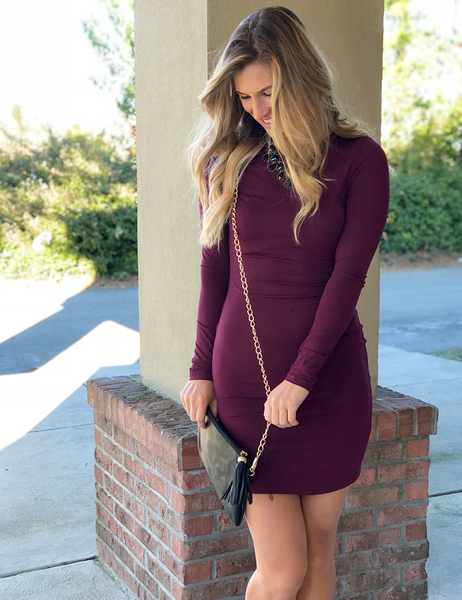 In That Case Dress - Plum