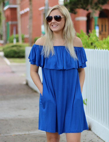 Change Your Mood Dress - Royal Blue