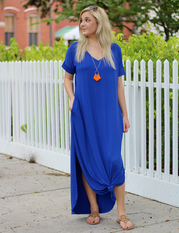 Come And Go Maxi Dress - Royal
