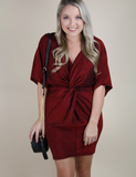 Shimmy And Shine Dress - Wine