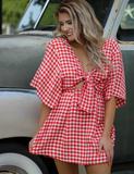 Buddy Love: Sunny In The Summer Dress - Red Gingham