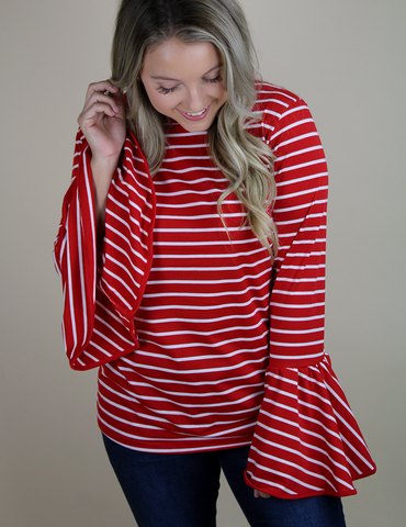 Love Blooms Top - Red