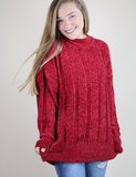 Cozy On Up Sweater - Red