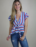 Buddy Love: For The Stars And Stripes Top - White