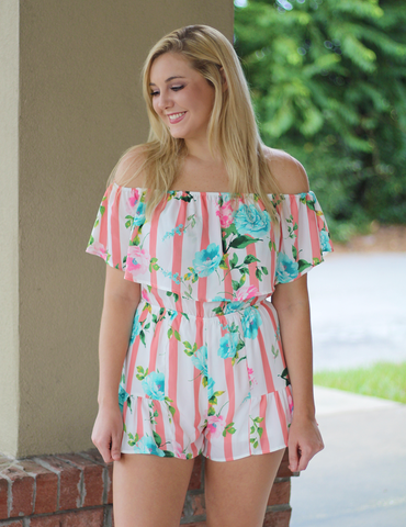 Set Yourself Apart Romper - Pink