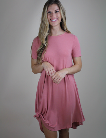 In No Time Dress - Ash Rose