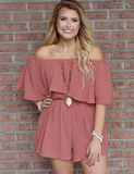 Always Something Romper - Faded Rose