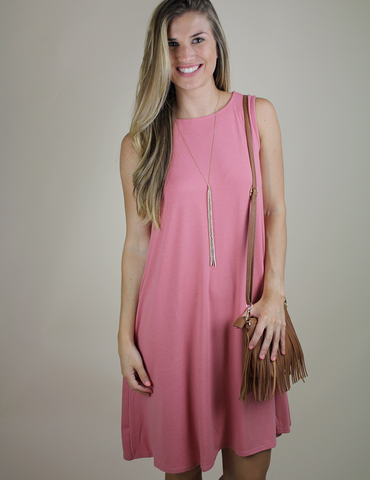 Always There For Me Dress - Dusty Rose