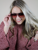 Quay Australia: Sahara Mini Black Purple Fade Sunnies