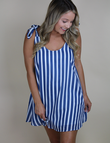Buddy Love: Get With Me Dress - Blue