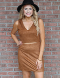 Buddy Love: Say No More Dress - Brown