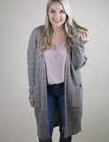 Not Over You Cardigan - Taupe
