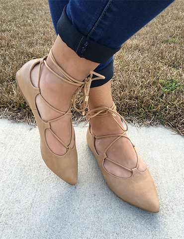 Just Dance Flats - Tan - Shop The Latest Fashion Trends Online at The Dressing Space Boutique