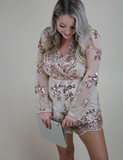 Raise Your Expectations Romper - Taupe
