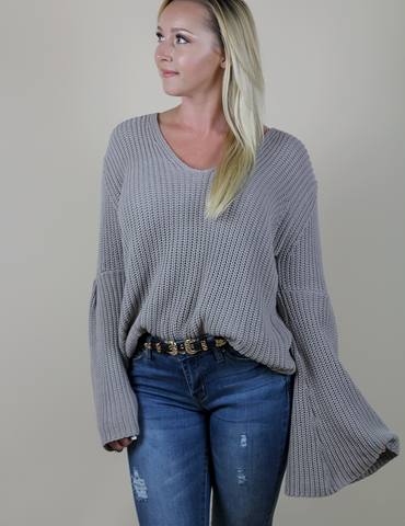 Buddy Love: Just Between Us Sweater - Taupe