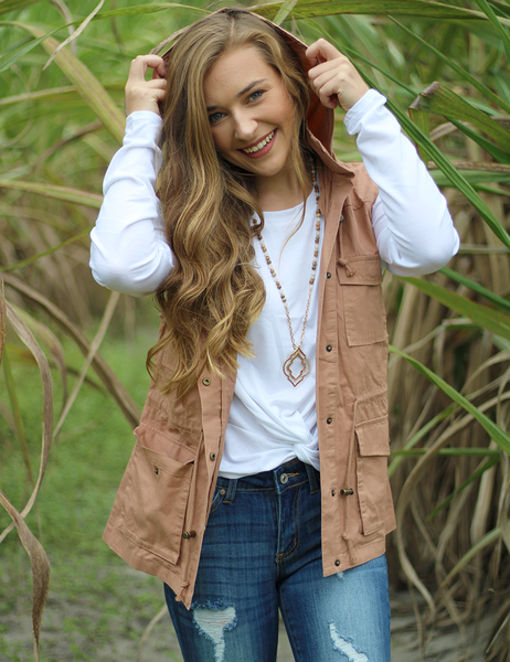 Won't Be Forgotten Vest - Taupe