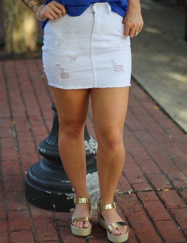 This Is It Skirt - White