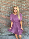 The Wit And Whimsy Dress - Eggplant
