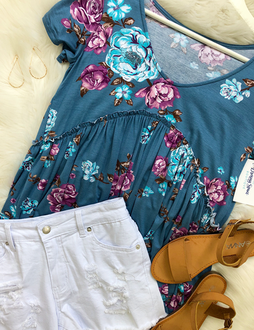Day Dreaming Top - Blue