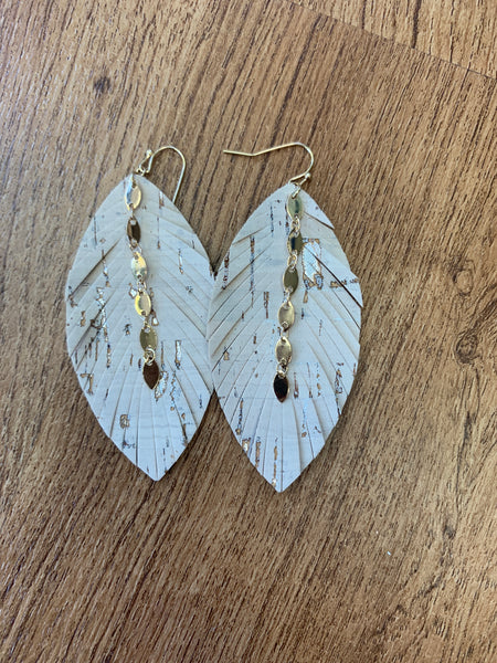 Cork Earrings - Ivory
