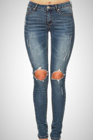On The Move Skinny Jeans - Medium Wash