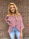 All Of My Heart Top - Mauve