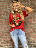 A Kiss On The Wild Side Graphic Tee - Red
