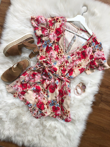 Adore You Romper - Beige