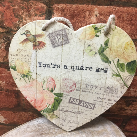 Small  Valentine  Personalised Hanging Heart £25