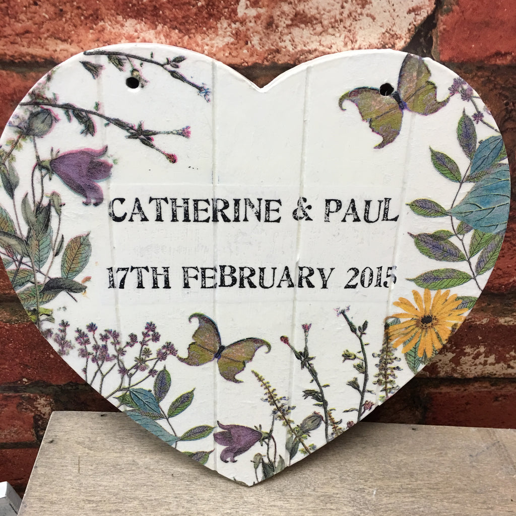 Small  Personalised Hanging Heart £25