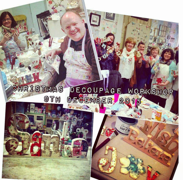 Decoupage and Image Transfer Workshop (Christmas Special)  7th November  2017