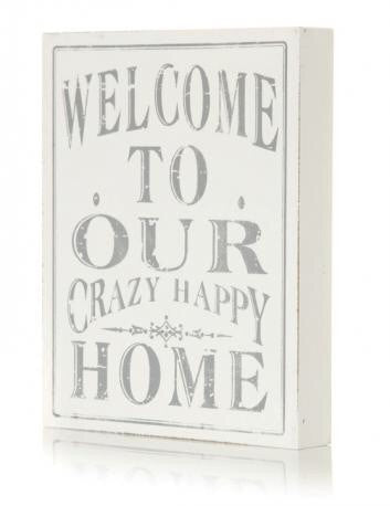 Welcome To Our Sign White 24Cm - Doris and Jeannie