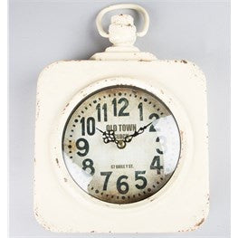 Vintage square station wall clock - Doris and Jeannie - 2