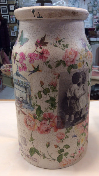 Large Personalised  Handmade Churn - Doris and Jeannie - 2