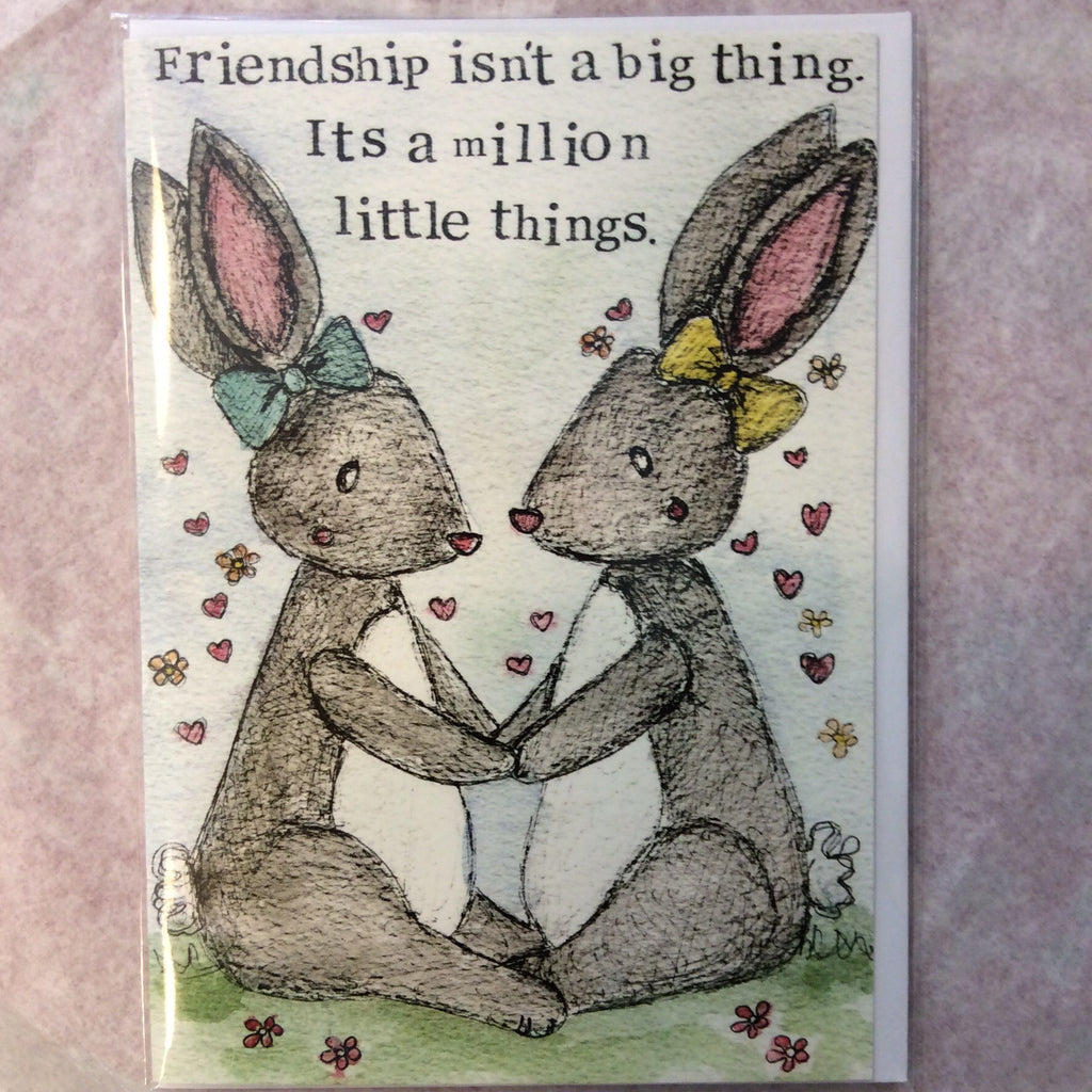Greeting card- friendship isn't a big thing - Doris and Jeannie