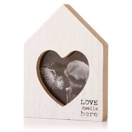 Zz Pya House Heart Photo Frame 3X3 13Cm - Doris and Jeannie