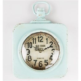 Vintage square station wall clock - Doris and Jeannie - 1