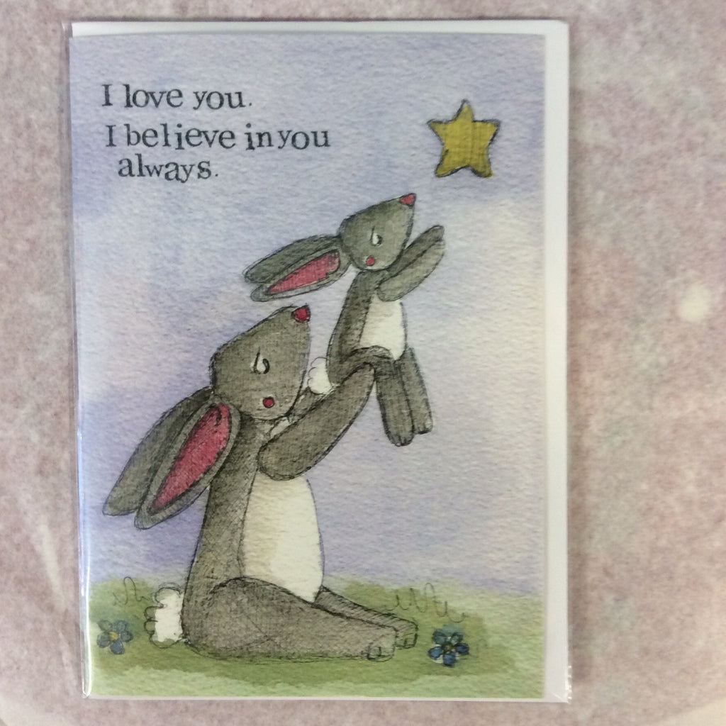 Greeting card- i love you - Doris and Jeannie