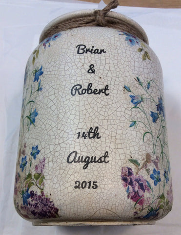 Large Personalised  Handmade Churn - Doris and Jeannie - 1